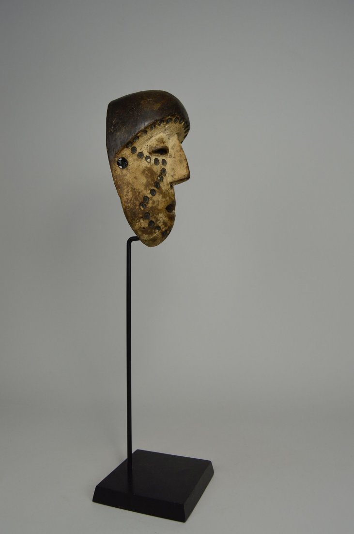 Lega Bwami Society African Mask with spotted designs - 6
