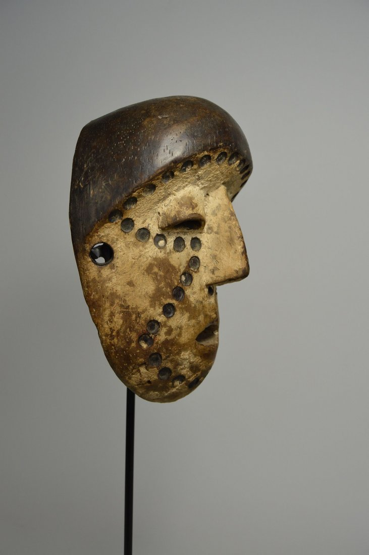 Lega Bwami Society African Mask with spotted designs - 7