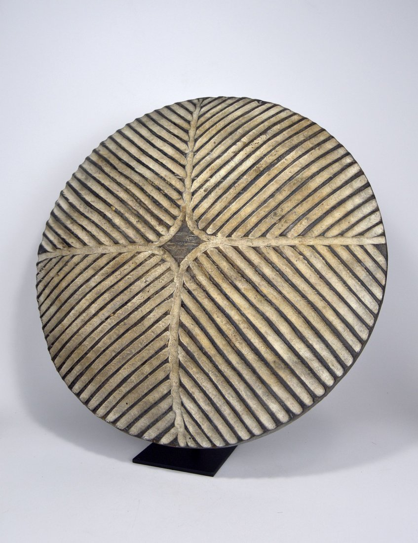 African Art Decorative Shield with linear designs