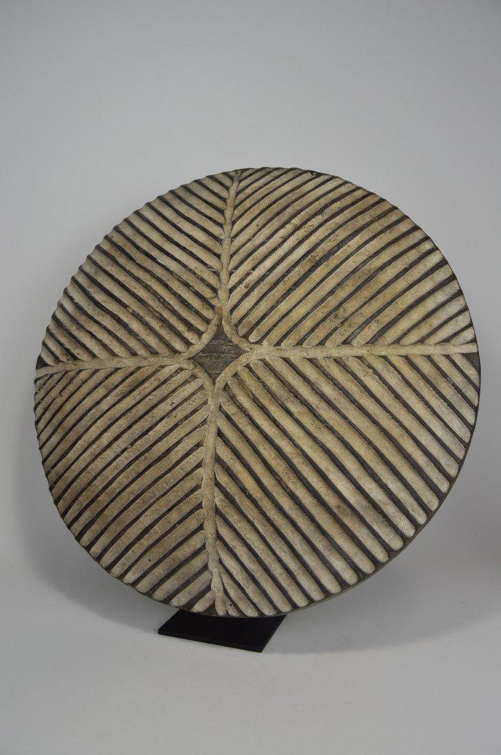 African Art Decorative Shield with linear designs - 2