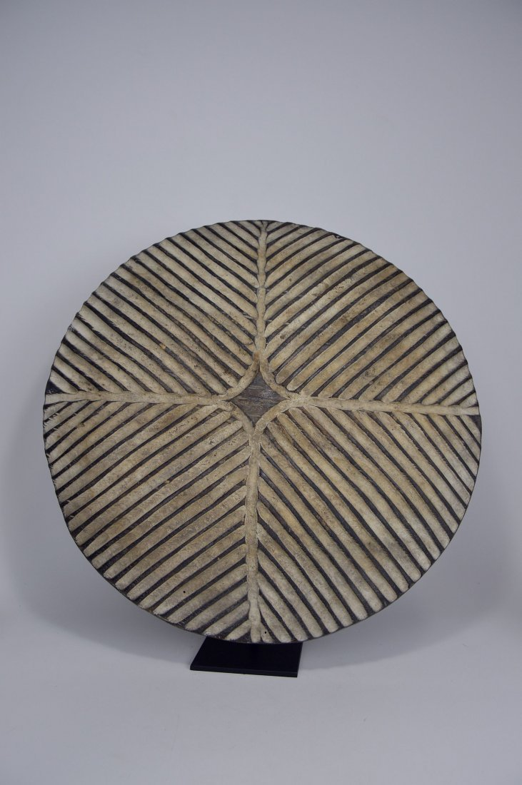 African Art Decorative Shield with linear designs - 4
