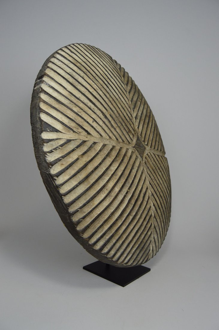 African Art Decorative Shield with linear designs - 5