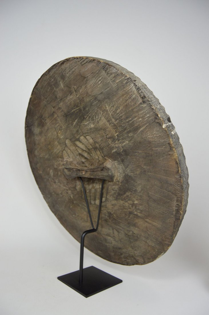 African Art Decorative Shield with linear designs - 6