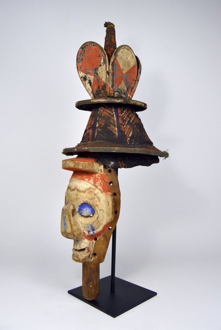 A Yaka Kholuka Initiation Mask, African Art - 7