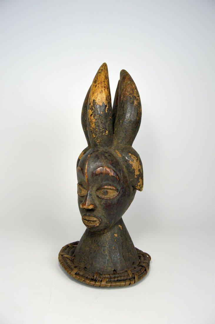 Old Ekoi / Ejagham Dance Crest, Cross River African Art - 2
