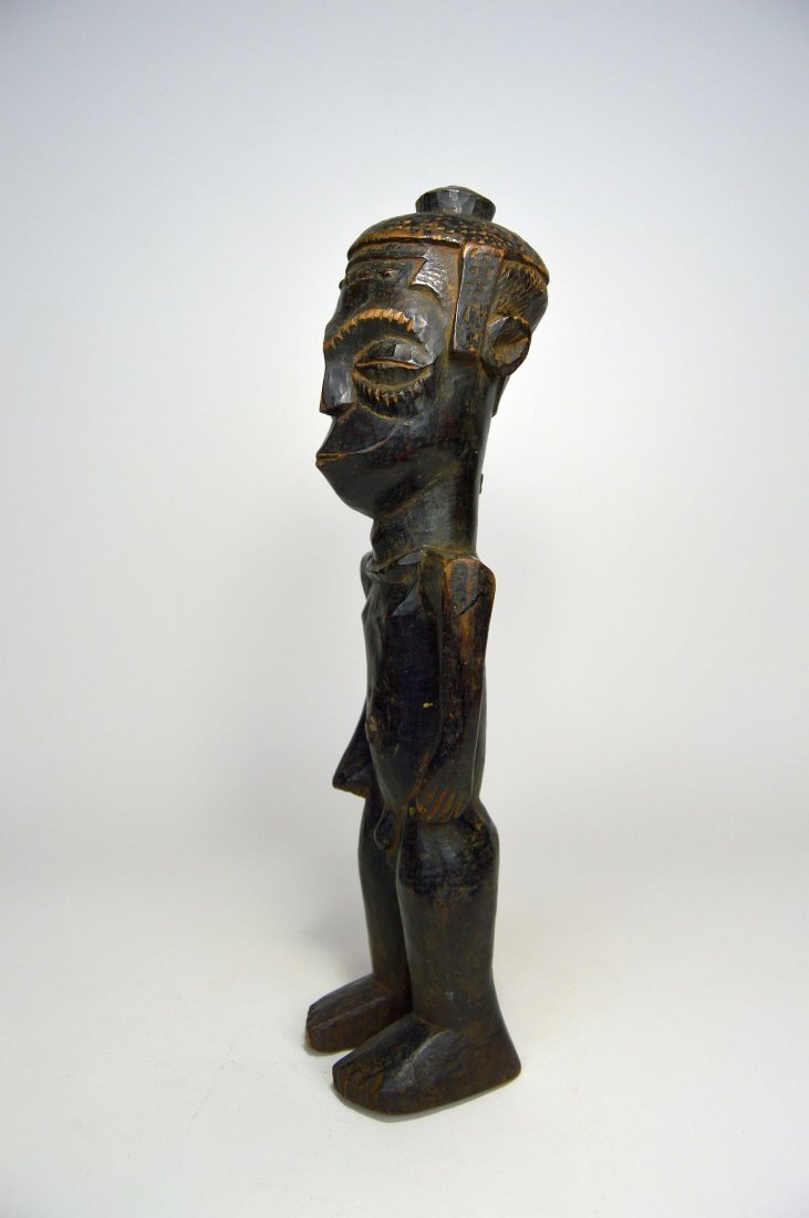 Vintage Kuba Male Sculpture, African Art - 4