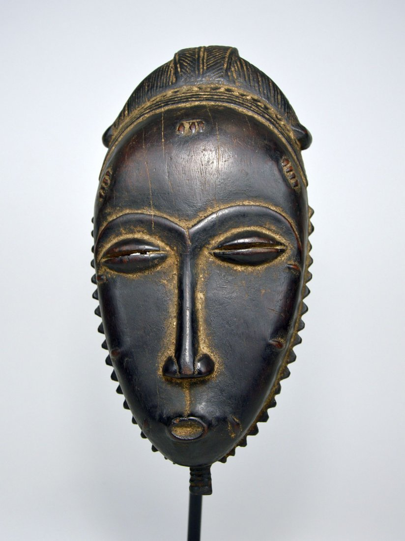 A Very Fine Baule Portrait Mask, African Art