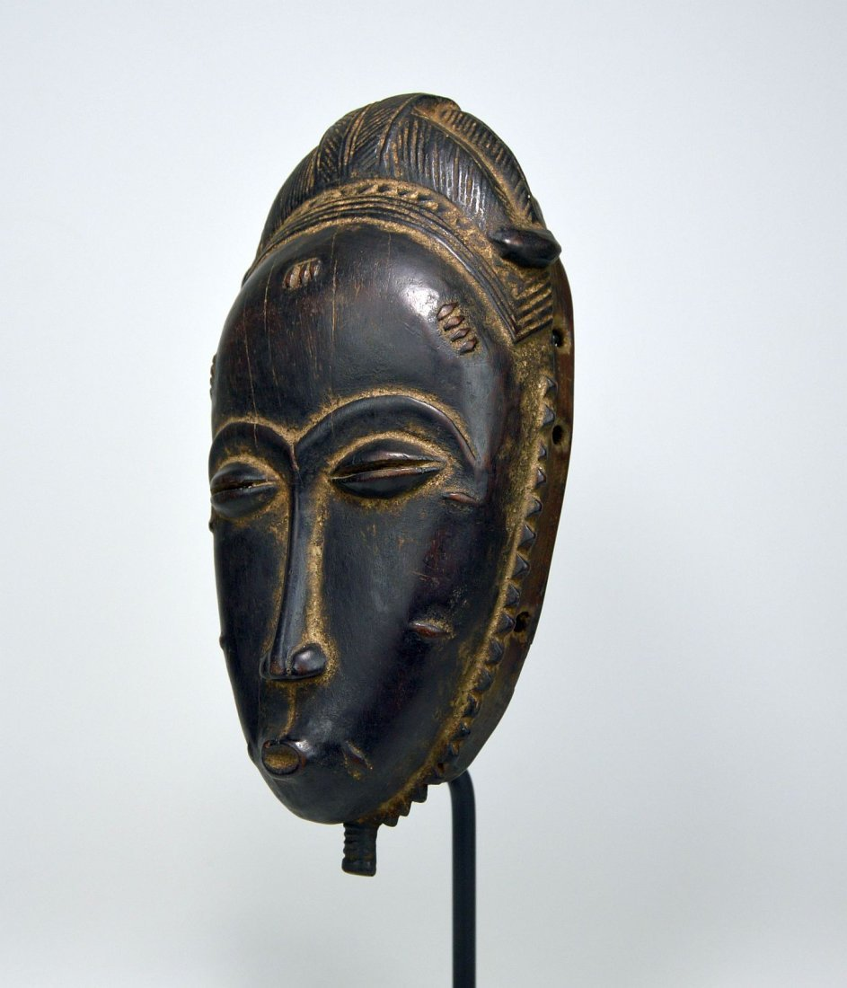 A Very Fine Baule Portrait Mask, African Art - 3