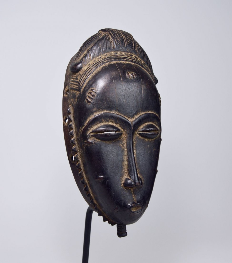 A Very Fine Baule Portrait Mask, African Art - 5