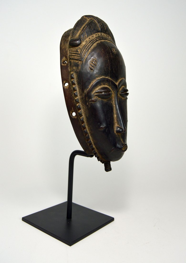 A Very Fine Baule Portrait Mask, African Art - 6