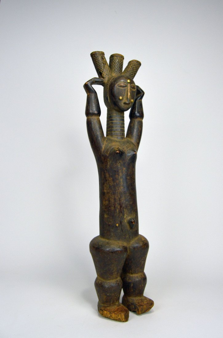 Beautiful Old Attie Female sculpture, African Art - 2