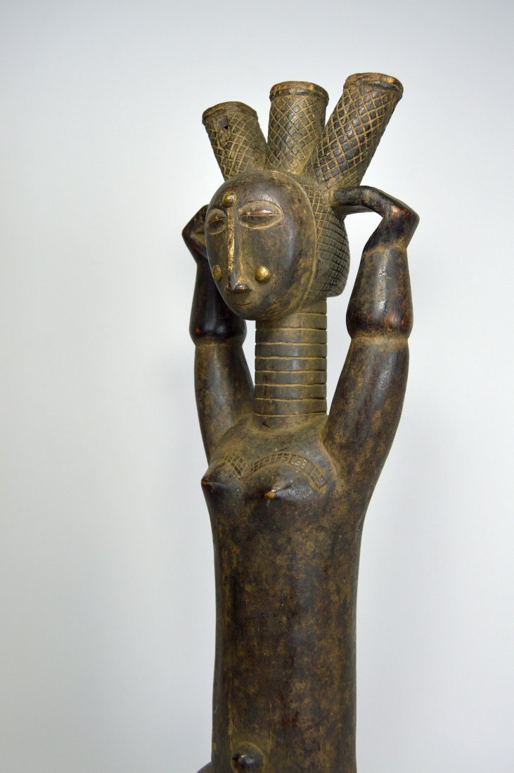 Beautiful Old Attie Female sculpture, African Art - 3