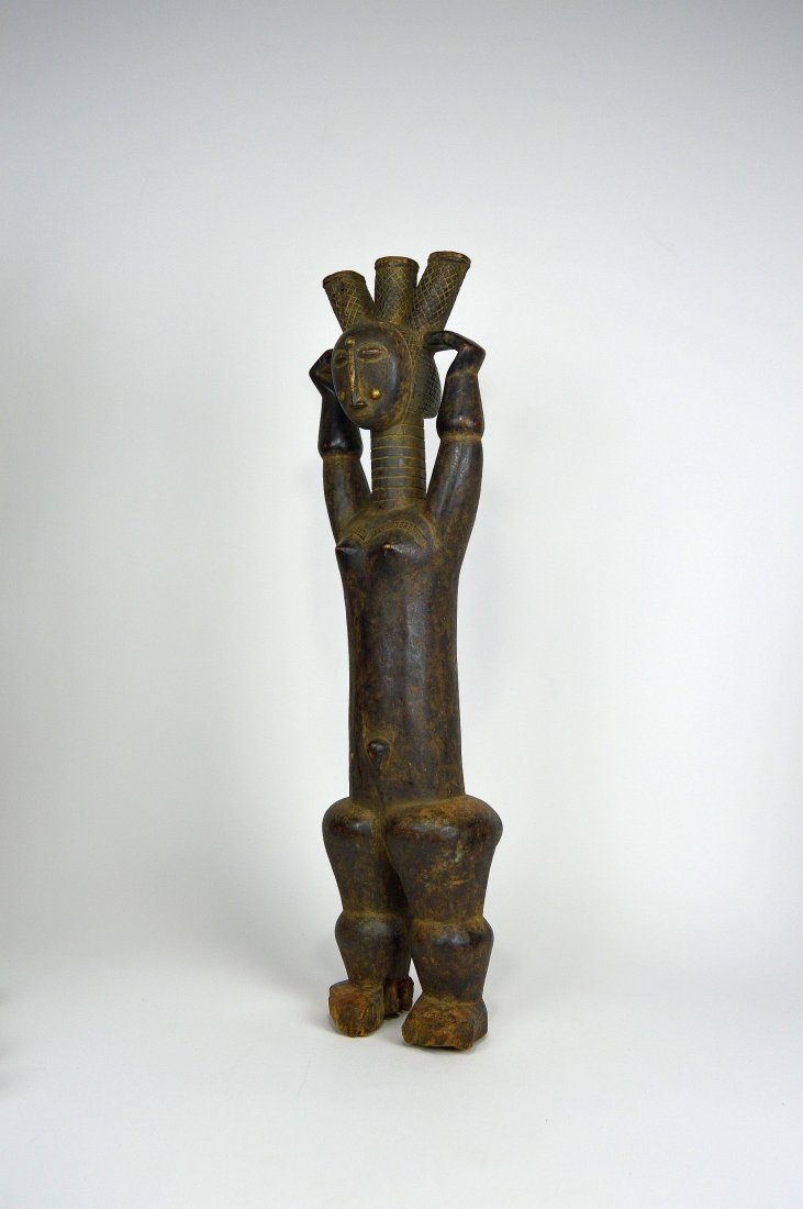 Beautiful Old Attie Female sculpture, African Art - 4