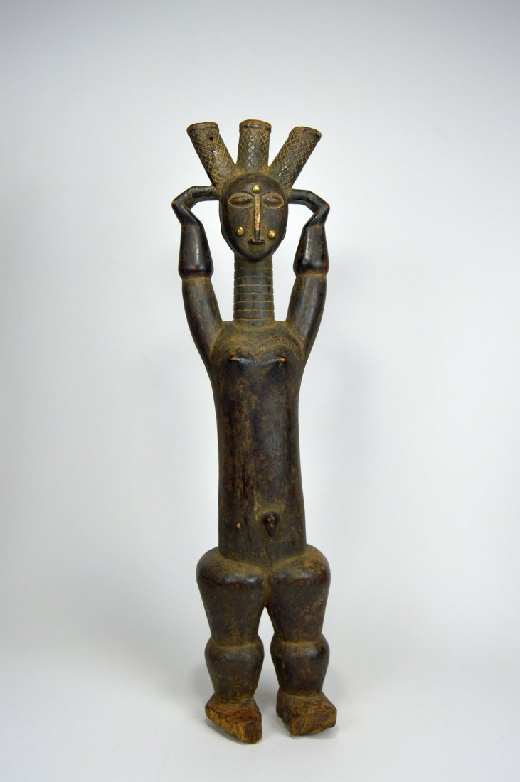 Beautiful Old Attie Female sculpture, African Art - 5