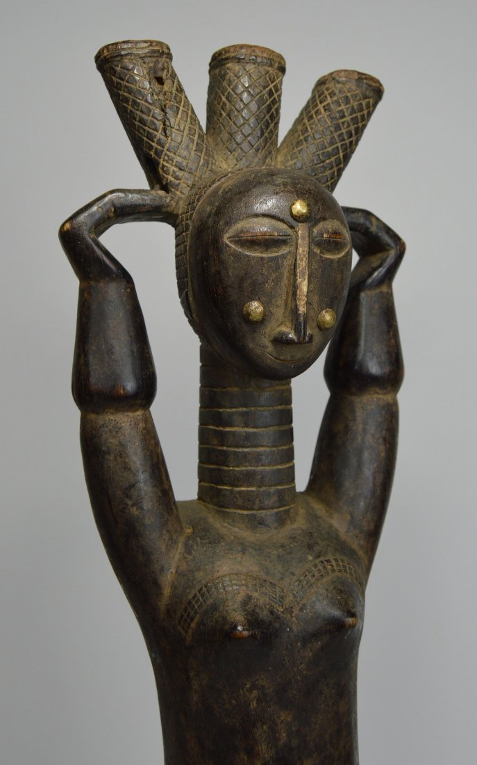 Beautiful Old Attie Female sculpture, African Art - 6