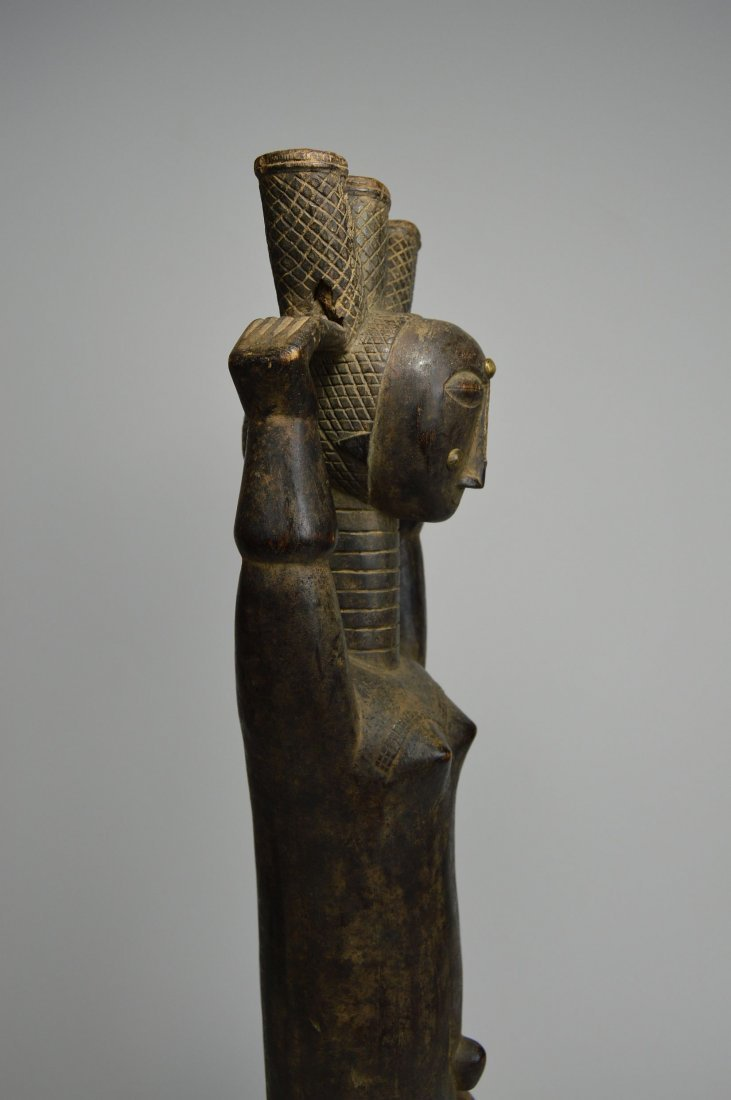 Beautiful Old Attie Female sculpture, African Art - 7