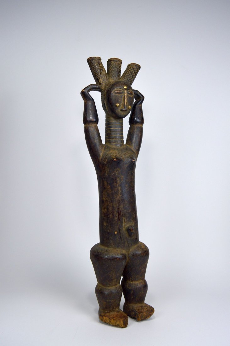 Beautiful Old Attie Female sculpture, African Art - 8