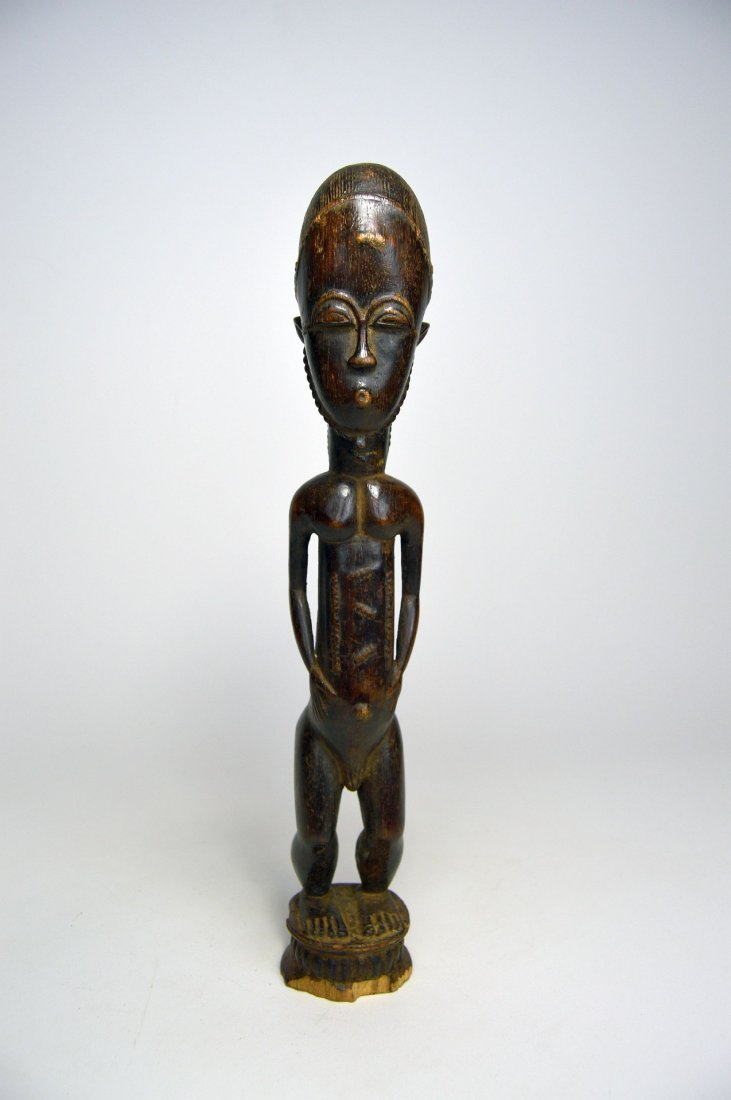 Handsome old Baule Male sculpture, African Art