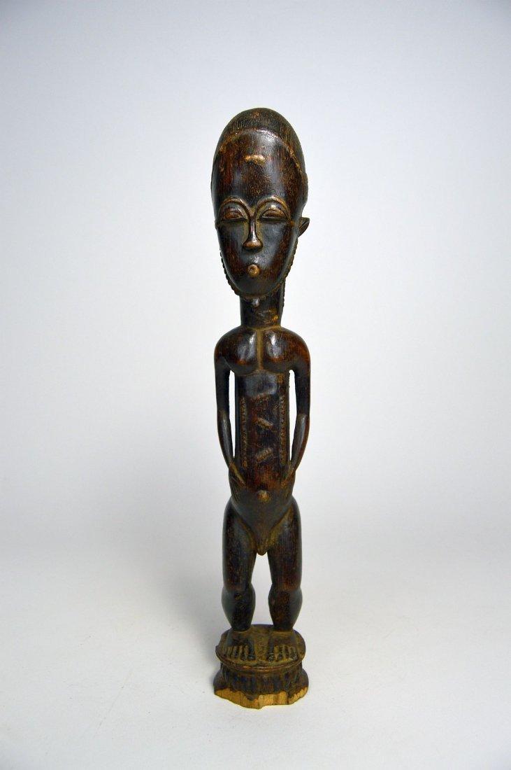 Handsome old Baule Male sculpture, African Art - 2