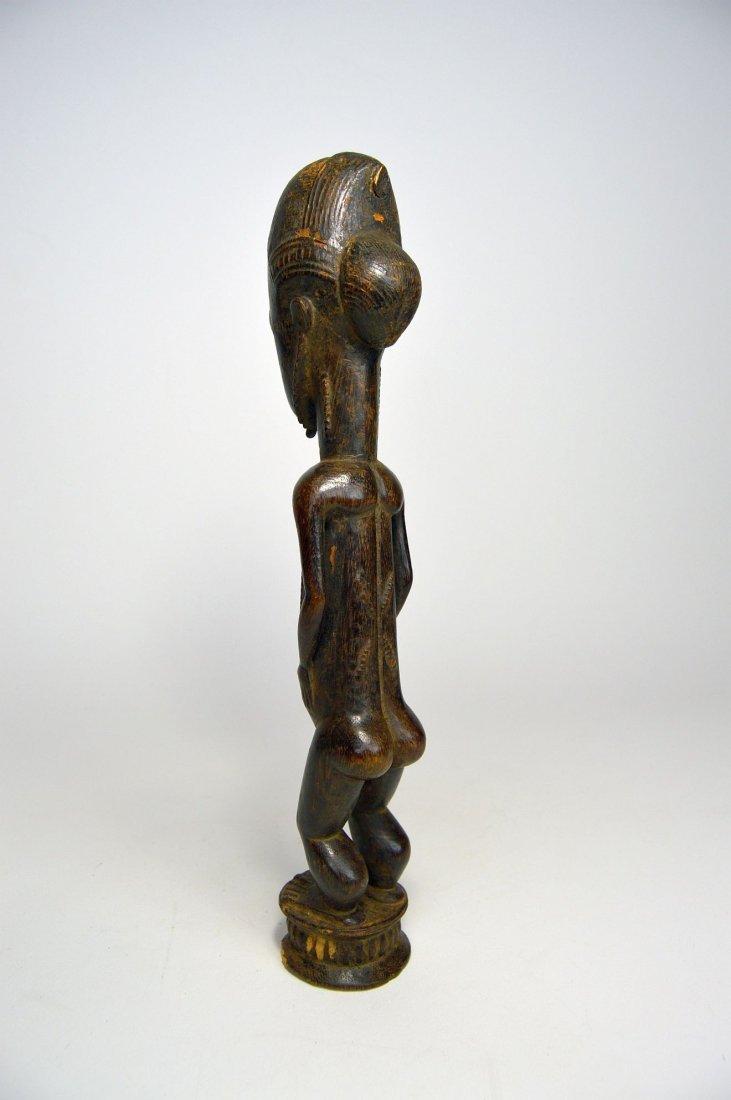 Handsome old Baule Male sculpture, African Art - 3