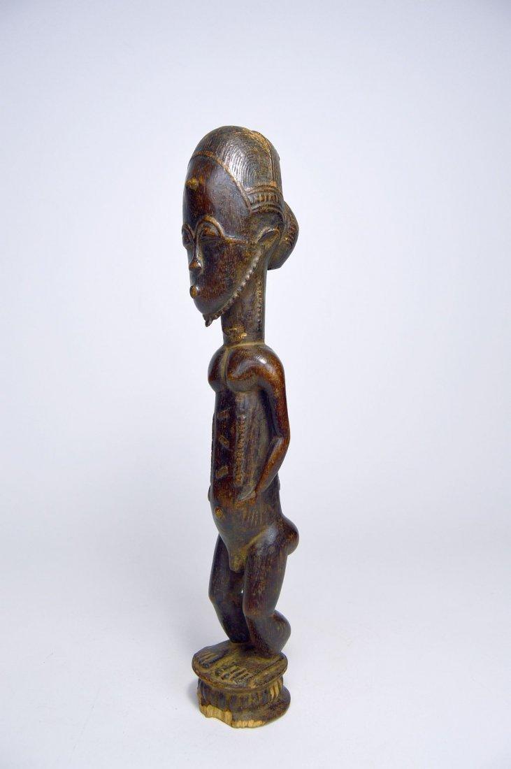 Handsome old Baule Male sculpture, African Art - 4