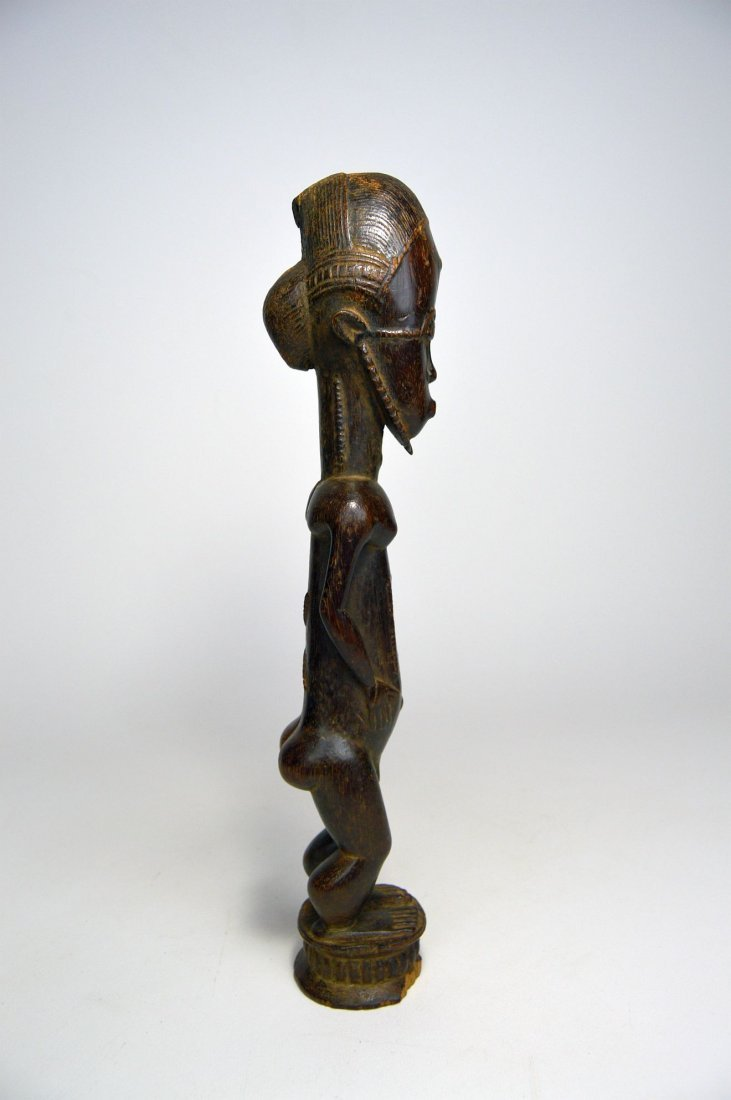 Handsome old Baule Male sculpture, African Art - 5