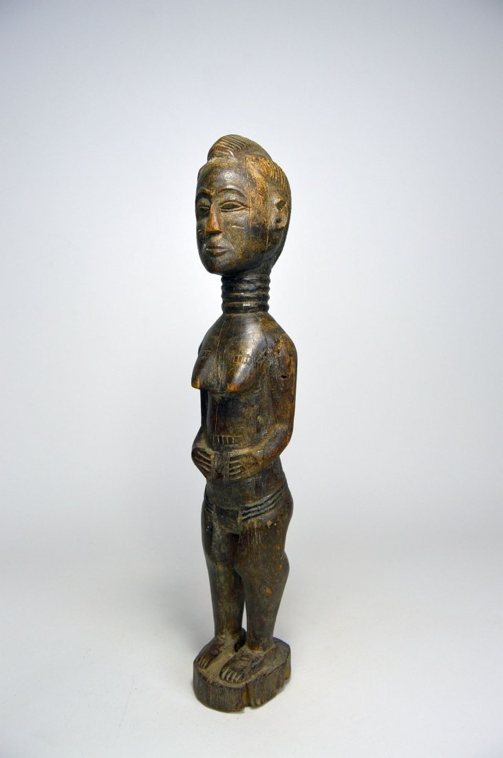 A Lovely Old Baule Female sculpture, African Art
