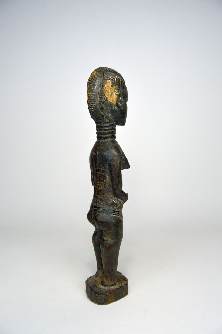 A Lovely Old Baule Female sculpture, African Art - 4