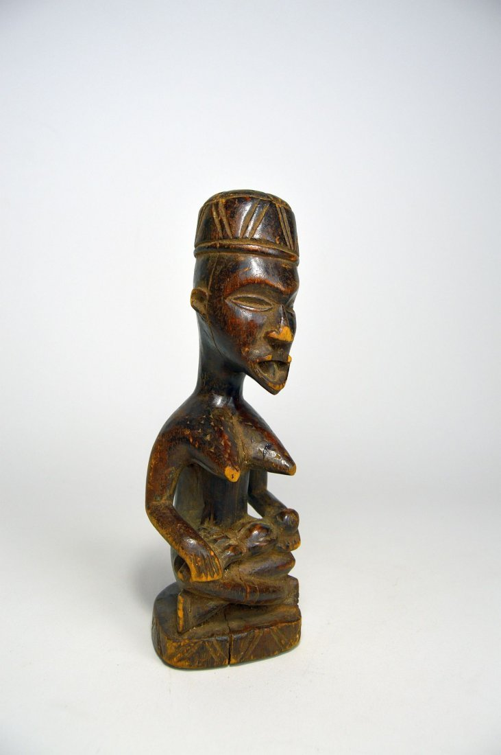 Kongo Maternity sculpture, African Art - 3