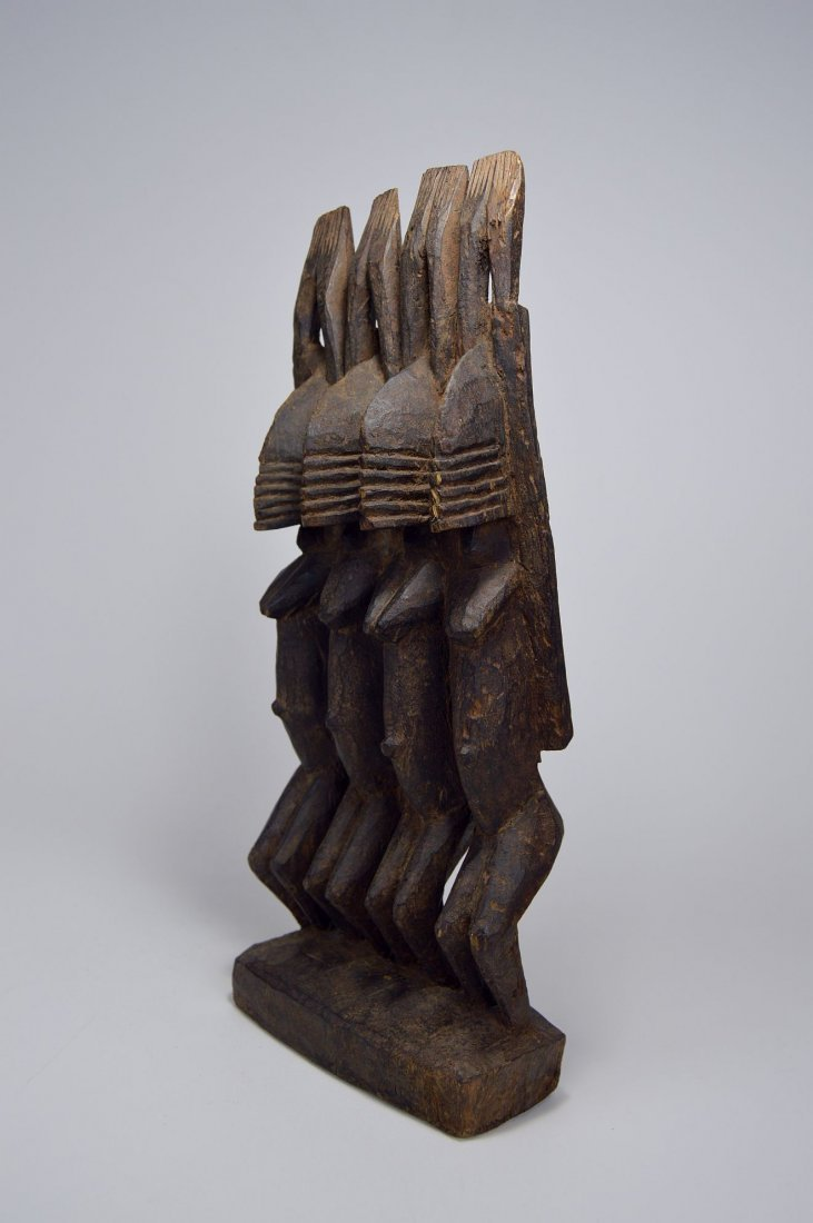 Dogon Nommo Sculpture Four Ancestors, African Art - 3
