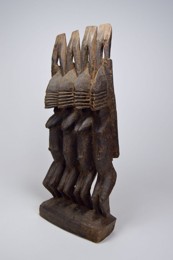 Dogon Nommo Sculpture Four Ancestors, African Art - 7