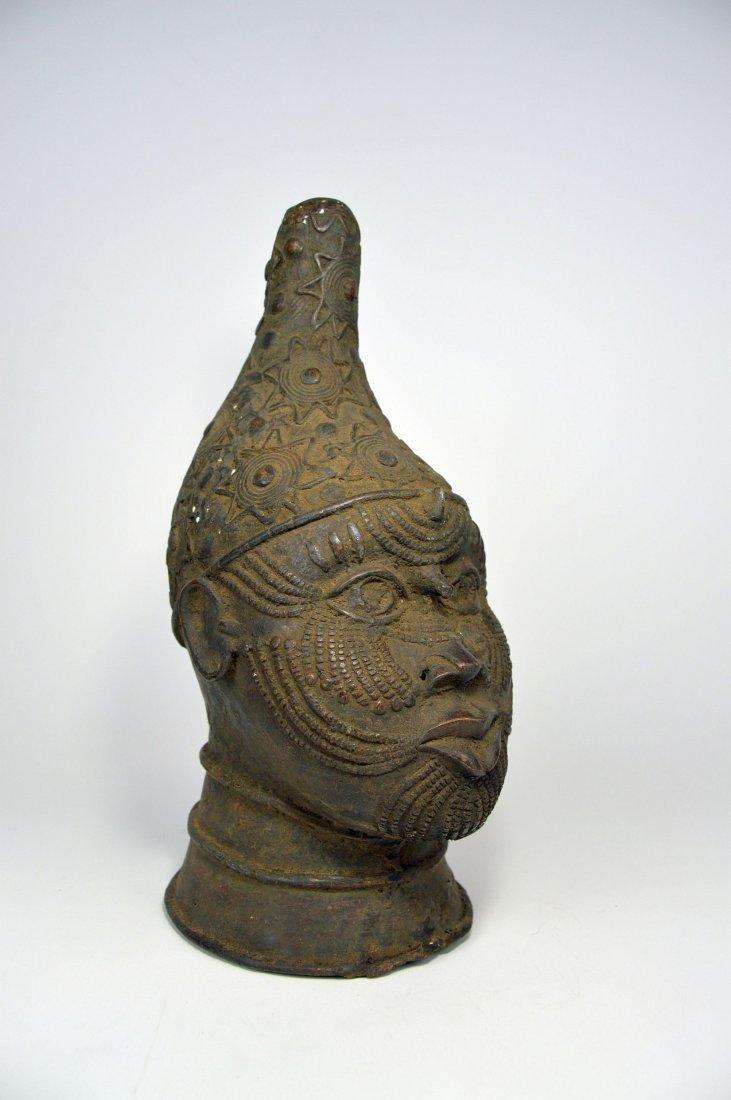 A Fine Benin Bronze Queen Mother Bust, African Art