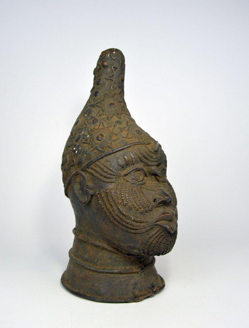 A Fine Benin Bronze Queen Mother Bust, African Art - 2