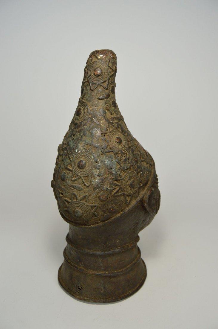 A Fine Benin Bronze Queen Mother Bust, African Art - 5
