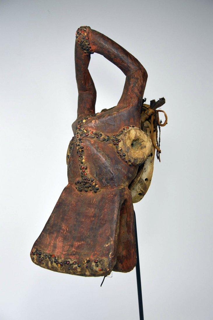 Horizontal Chamba Bush Cow helmet mask, African Art
