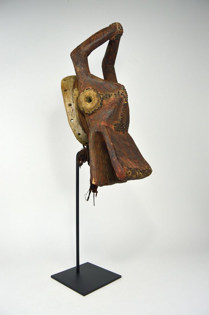 Horizontal Chamba Bush Cow helmet mask, African Art - 3