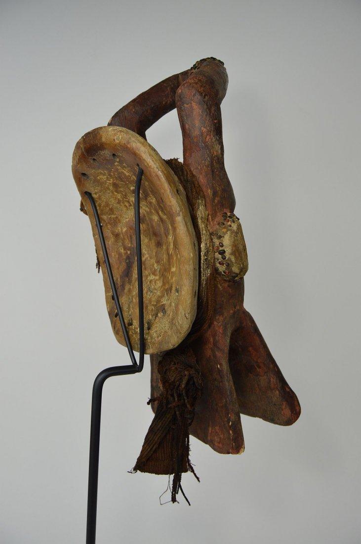 Horizontal Chamba Bush Cow helmet mask, African Art - 4