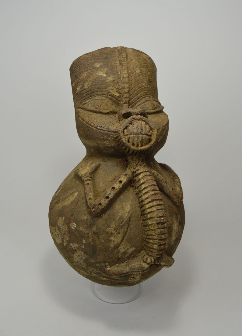 A Bangwa Terracotta vessel, African Tribal Art