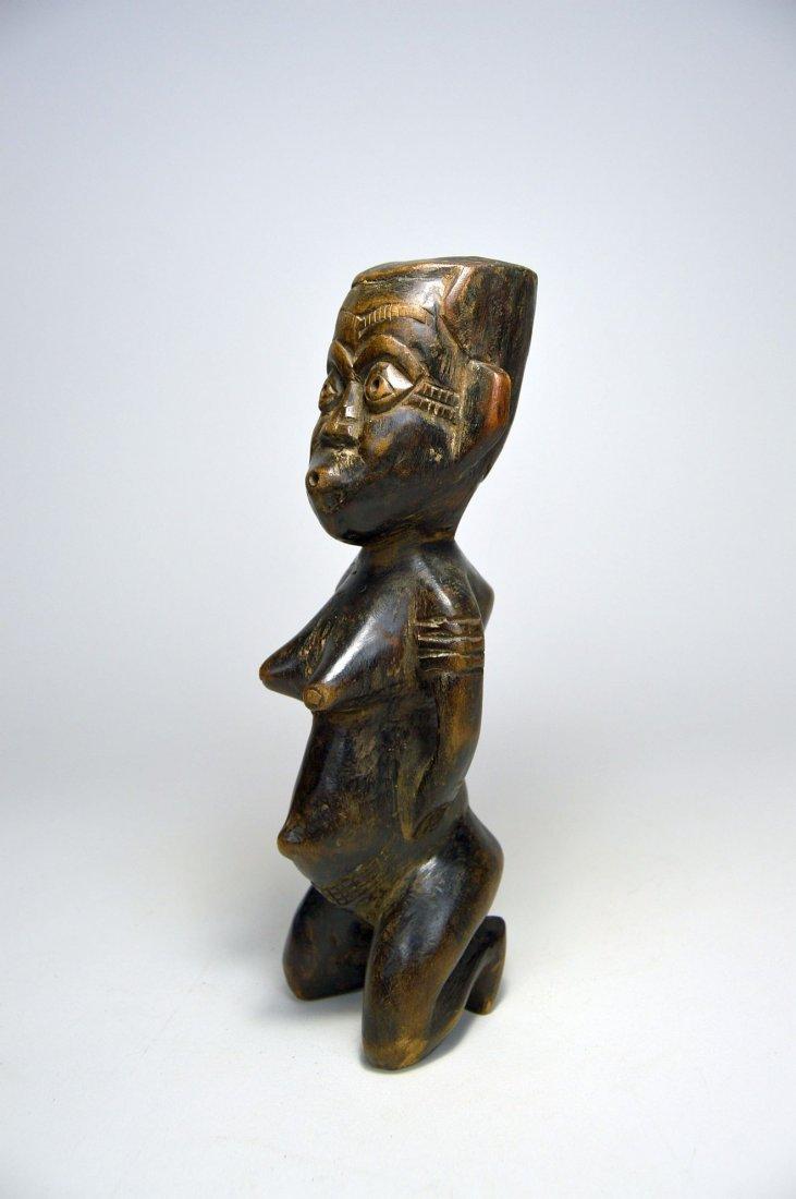 Kneeling Kuba Female sculpture, African Art - 2