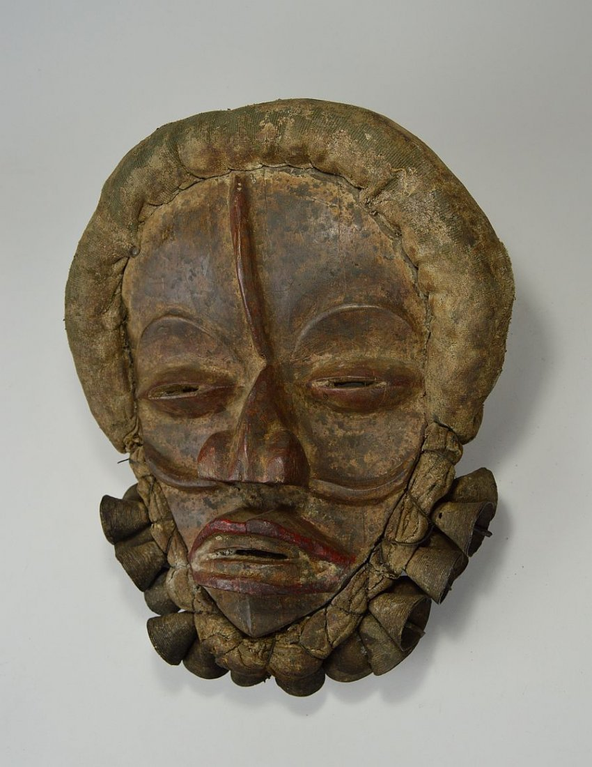 A Dan African mask adorned with Bronze Bells - 2