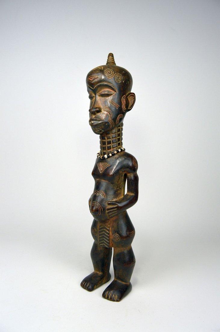 Tall Lulua Ancestor sculpture, African Art.