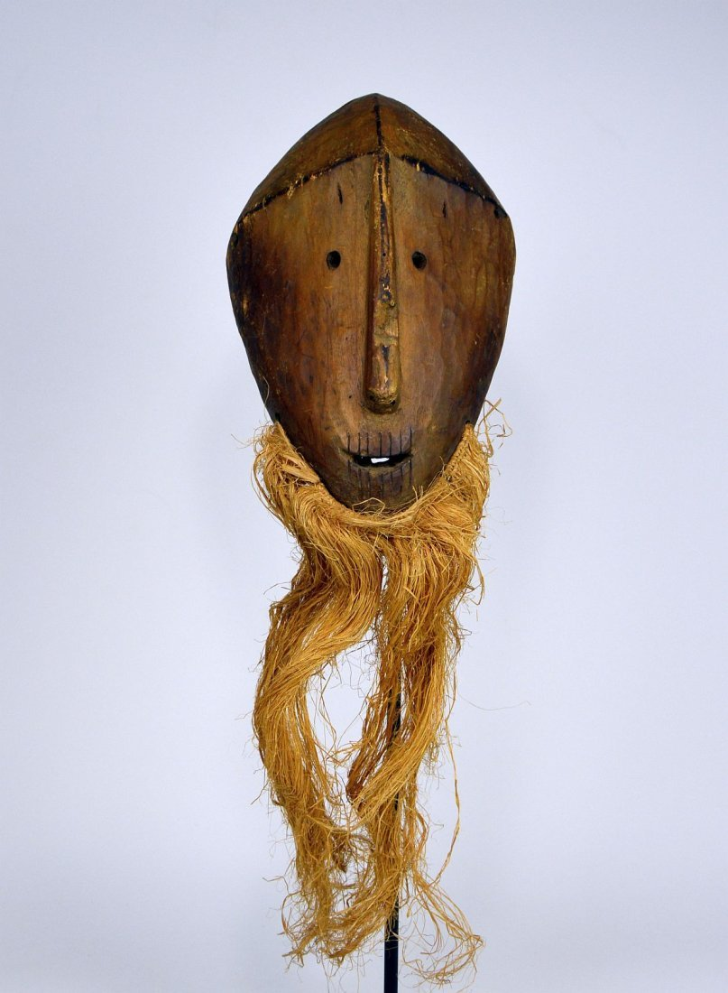Primitive Lega Bwami Society African mask - 3