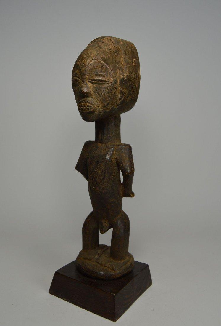 Primitive old Captive Slave Hemba Statue, African Art