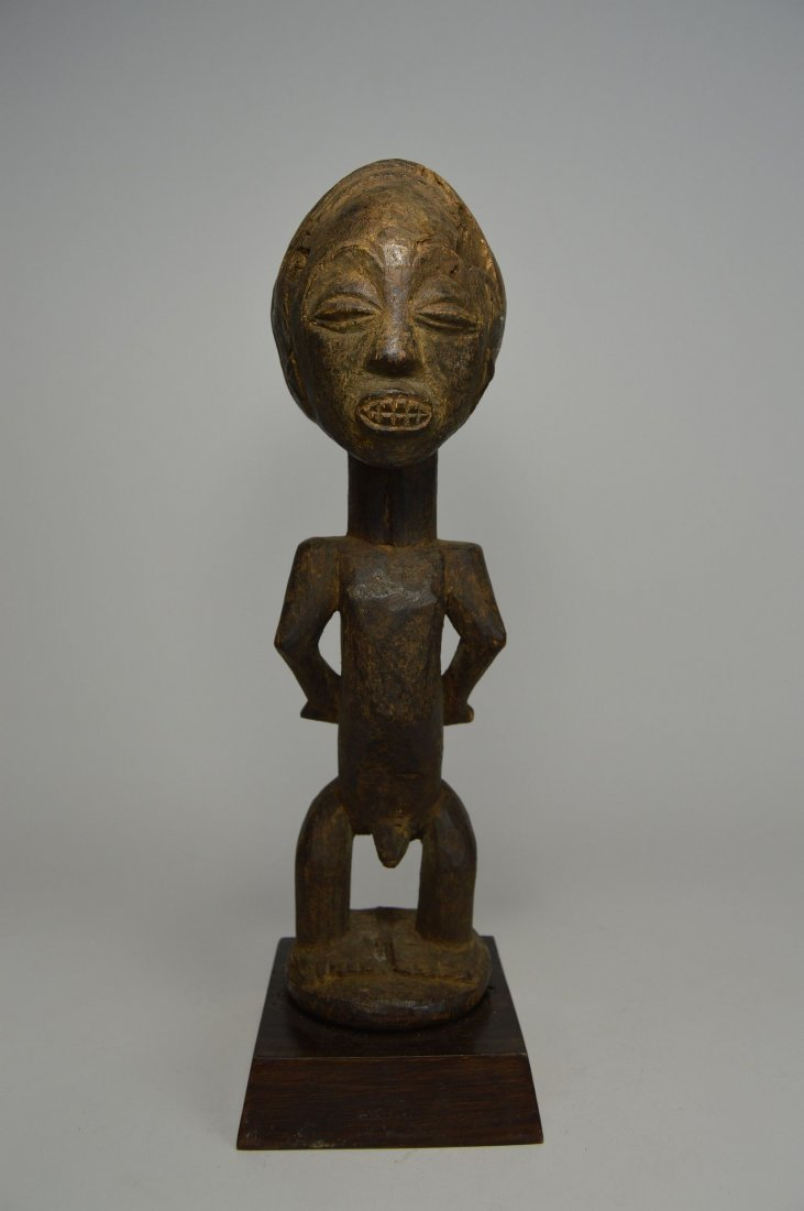Primitive old Captive Slave Hemba Statue, African Art - 2