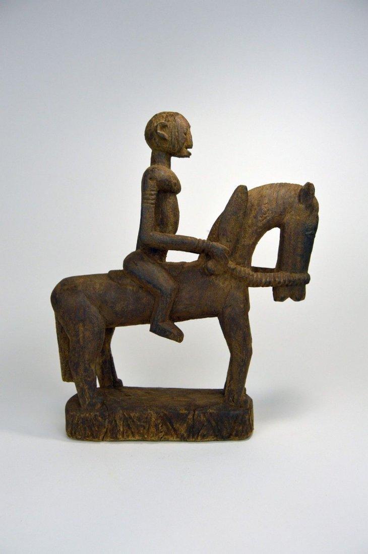 Dogon Equestrian Sculpture Horse & Rider African Art