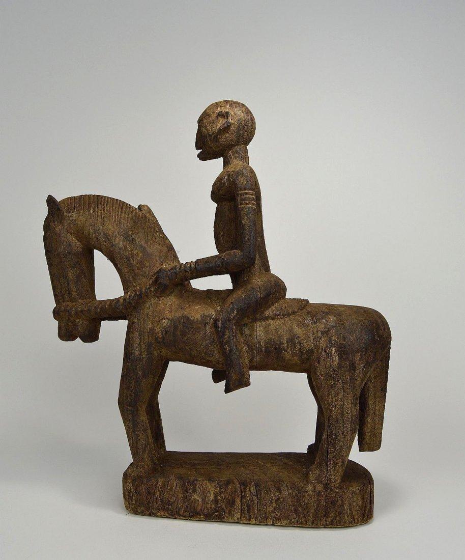 Dogon Equestrian Sculpture Horse & Rider African Art - 4