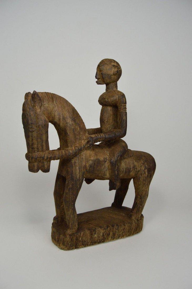 Dogon Equestrian Sculpture Horse & Rider African Art - 5