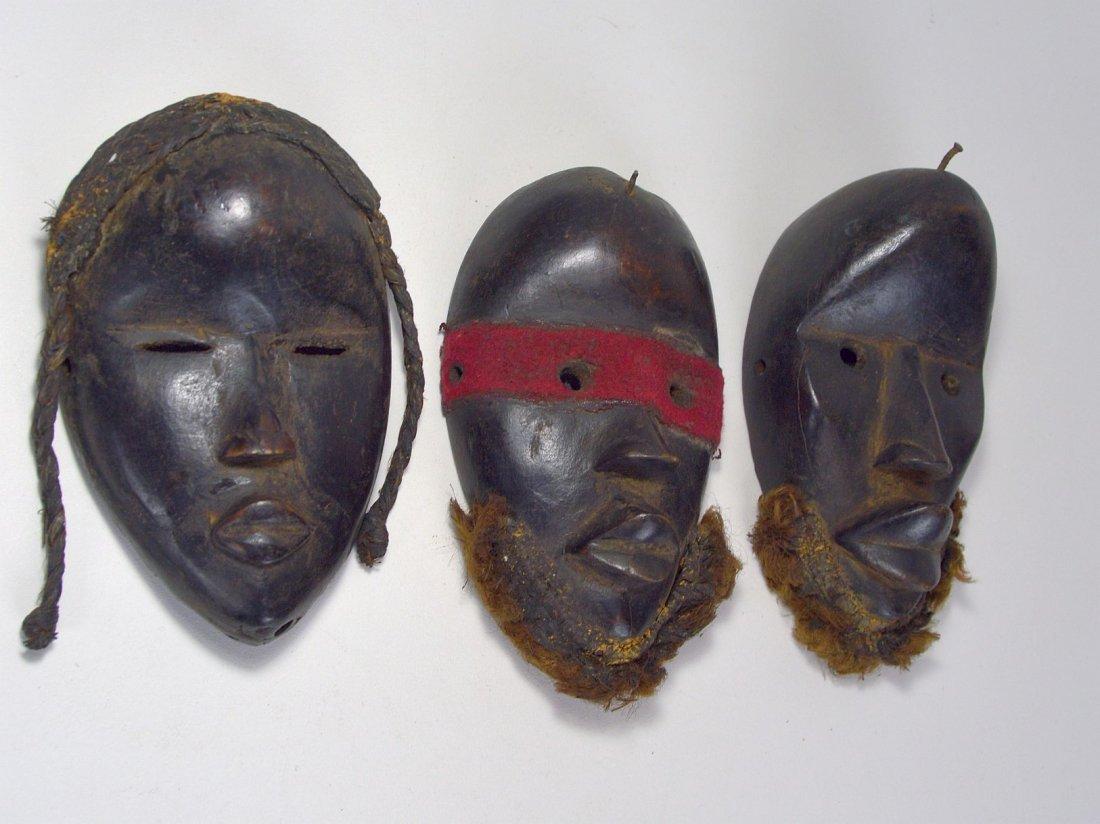 Lot of Three Dan Passport masks, African Art - 3