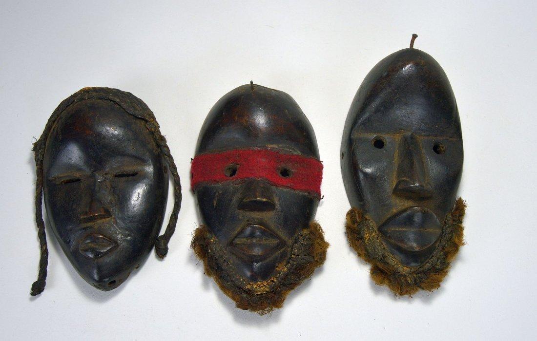 Lot of Three Dan Passport masks, African Art - 4