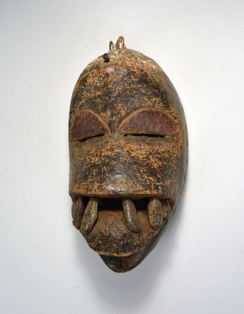 Fierce Dan mask with Large teeth, African Art